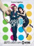 Caitlin Fitzgerald as Libby Masters, Michael Sheen as Dr. William Masters and Lizzy Caplan as Virginia Johnson in Masters of Sex (season 3, Key Art) - Photo: Liz Von Hoene/SHOWTIME - Photo ID: MastersofSex_S3_KeyArt_300